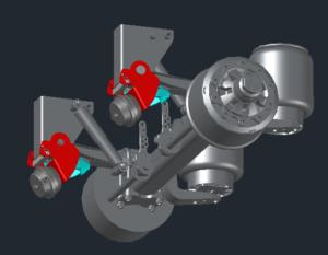 Механизм подъема оси BPW с тормозной камерой